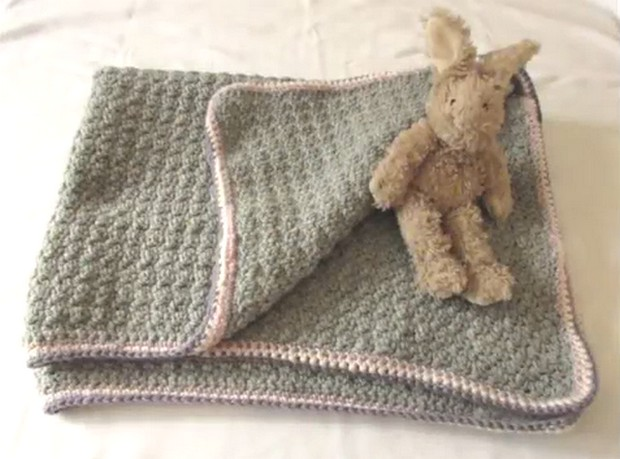 Vintage Style Crochet Baby Blanket Super Easy And Perfect For