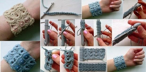 Broomstick Crochet Bracelet