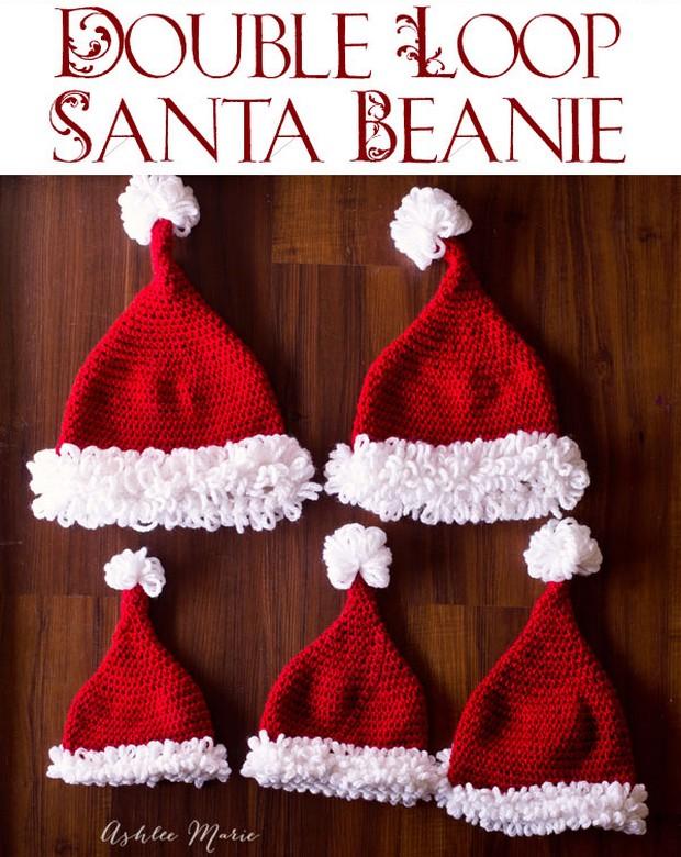 Crochet Santa Beanie Hat