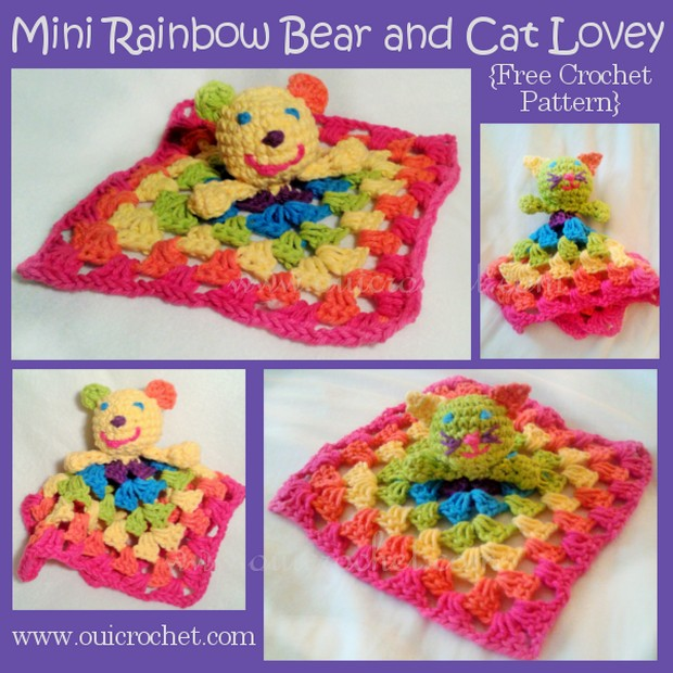Bear and Cat Lovey Crochet