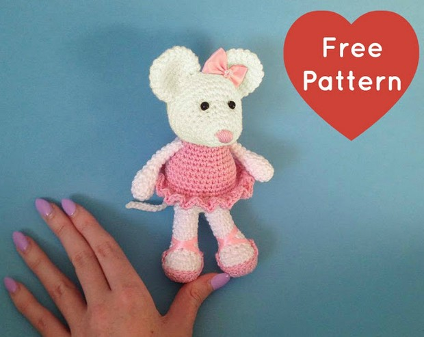 Crochet an Adorable Ballerina Mouse – Free Pattern!