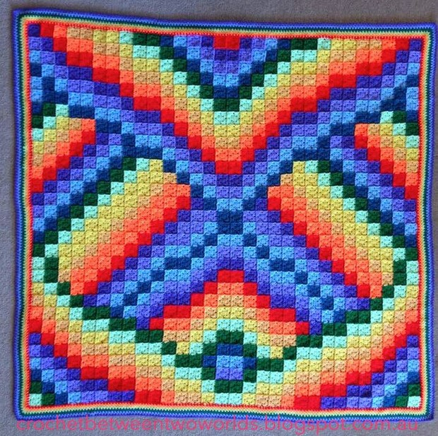 Crochet Bargello Afghan