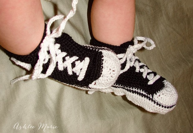 Crochet Converse All Star Shoes For Babies Free Pattern