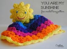 Crochet Sunshine Lovey Blanket