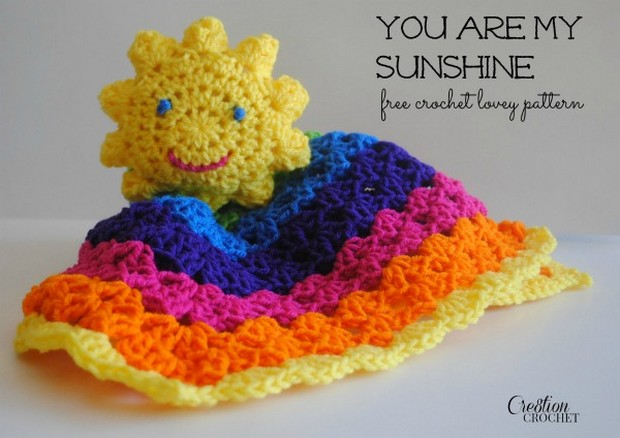 Crochet Sunshine Lovey Blanket