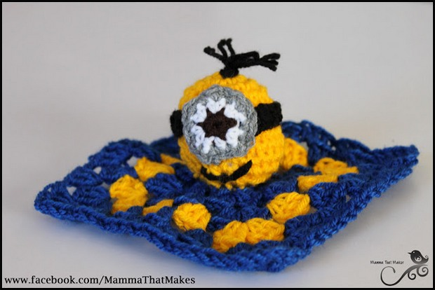 Crochet Minion lovey