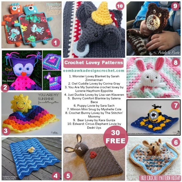 crochet lovey patterns