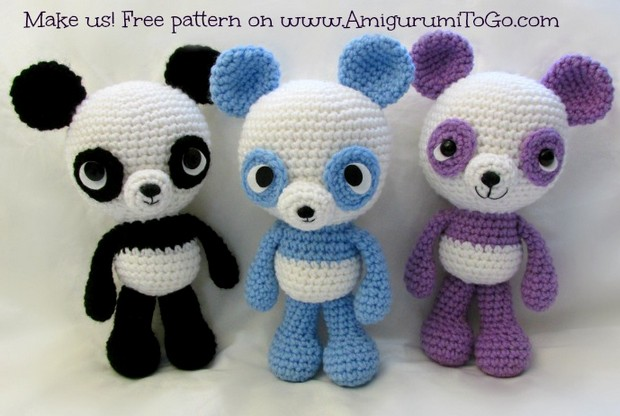 Amigurumi Free Patterns Bear : Adorable amigurumi panda bears! u2013 free crochet pattern