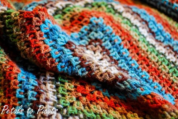 Crochet  Kaleidoscope Afghan