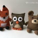 Amigurumi Crochet Fox Owl and Bear
