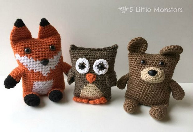 Amigurumi Crochet Fox Owl and Bear