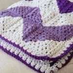 Crochet Granny Square Chevron Afghan