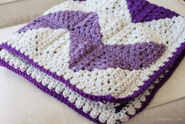 Gorgeous Chevron Afghan Made With Granny Squares Free Crochet