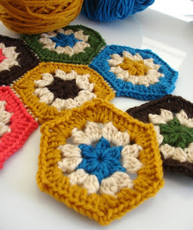Crochet Hexagon Pattern