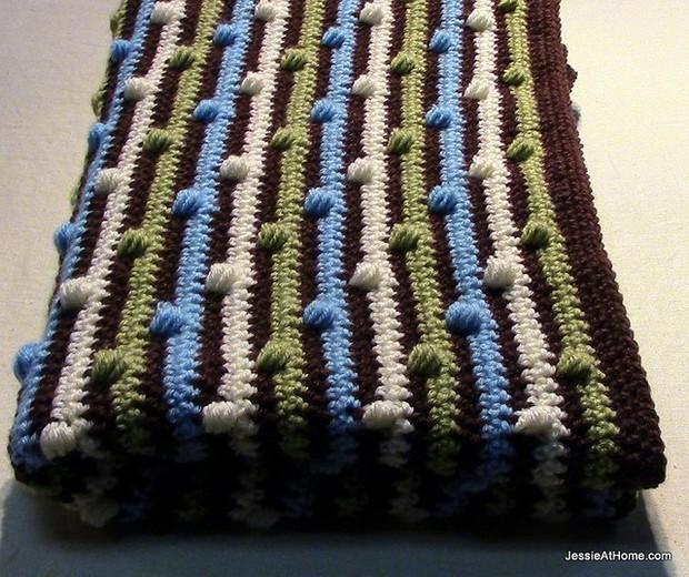 Crochet Puff Stitich Blanket