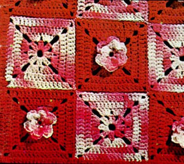 Crochet Rose Trellis Afghan