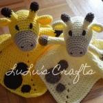 Giraffe lovey blanket