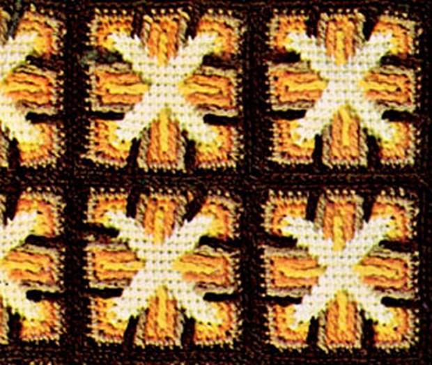 Vintage Crochet Windmill Afghan