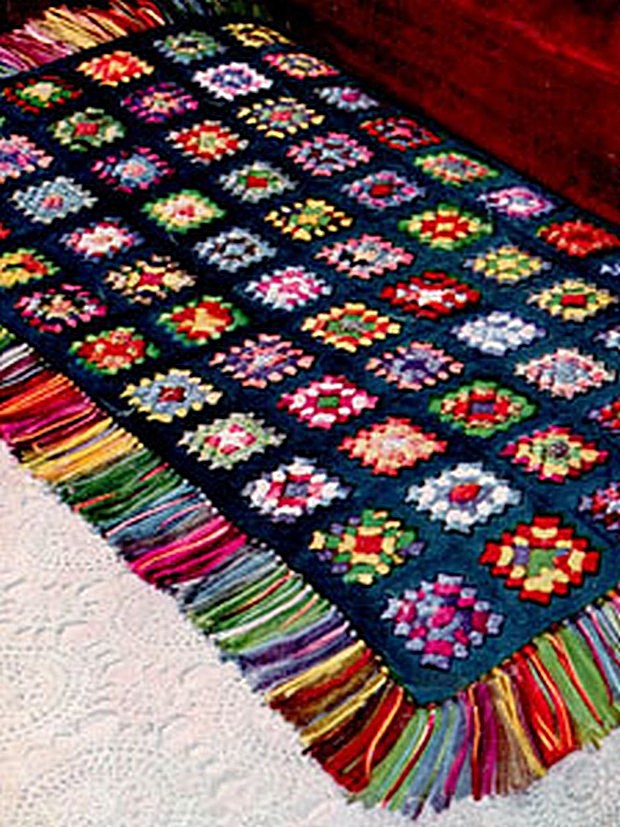 Vintage Granny Square Afghan With Fringe Free Crochet Pattern Enchanting Granny Square Crochet Patterns