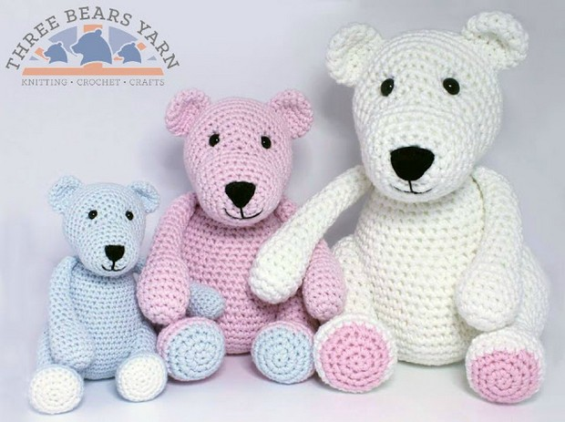 Adorable Trio of Amigurumi Bears Free Crochet Pattern!