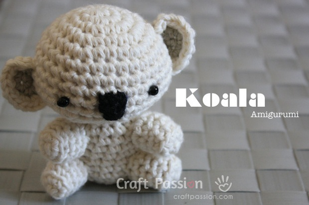 Amigurumi Bear Tutorial : Adorable Amigurumi Koala Bear Free Crochet Pattern!