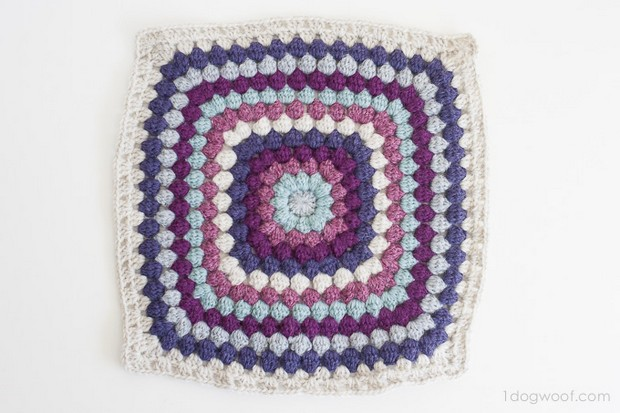 Bobble Stitch Afghan Square