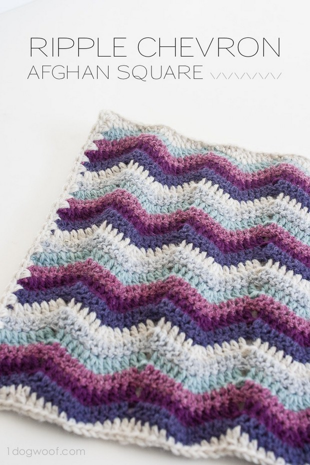 Crochet Chevron Afghan Square
