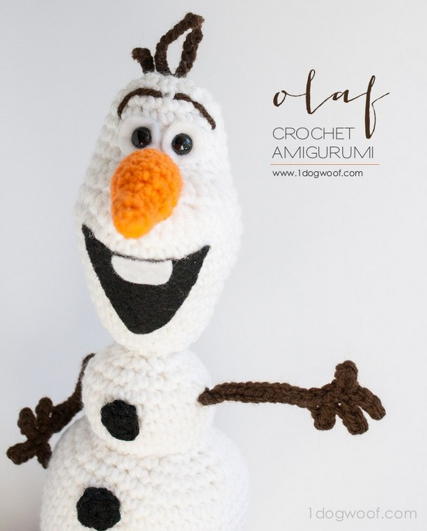 Crochet Olaf from Frozen