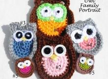 Crochet Owl Appliques