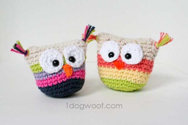 Crochet Owl Pouches
