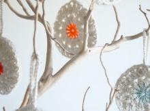 Crochet Snowflower ornaments
