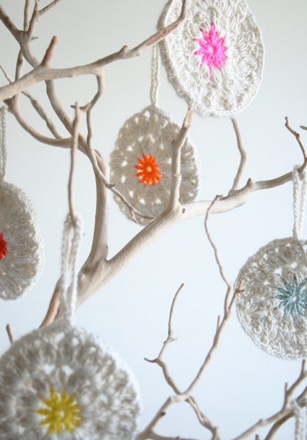 Crochet Snowflower ornaments