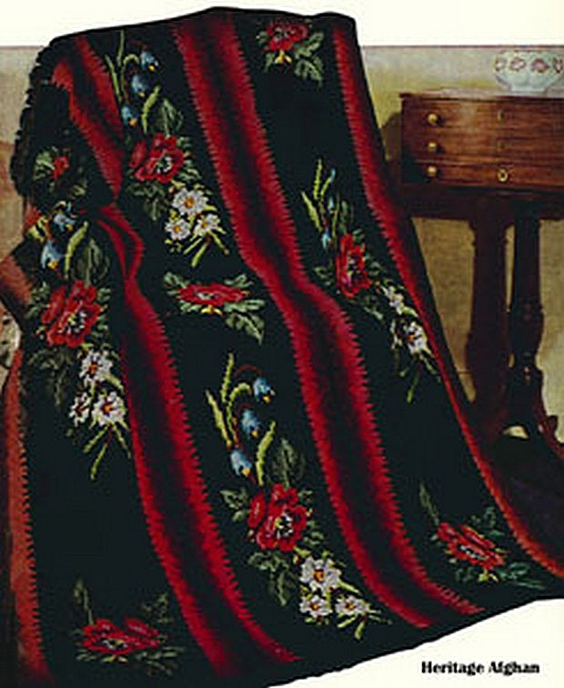 Beautiful Vintage Heritage Afghan Free Crochet Pattern