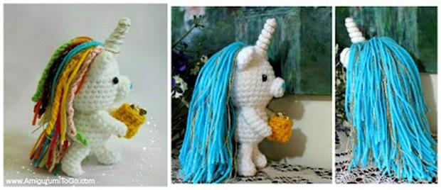 crochet amigurumi unicorn