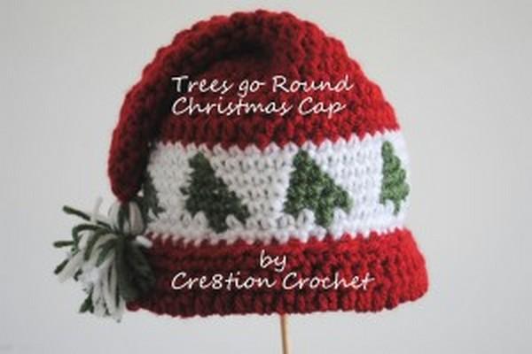 Crochet Christmas Cap
