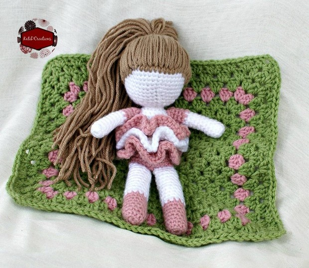 Adorable Little Crochet Doll With Blanket Free Pattern