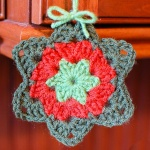 Crochet Granny Star Ornament