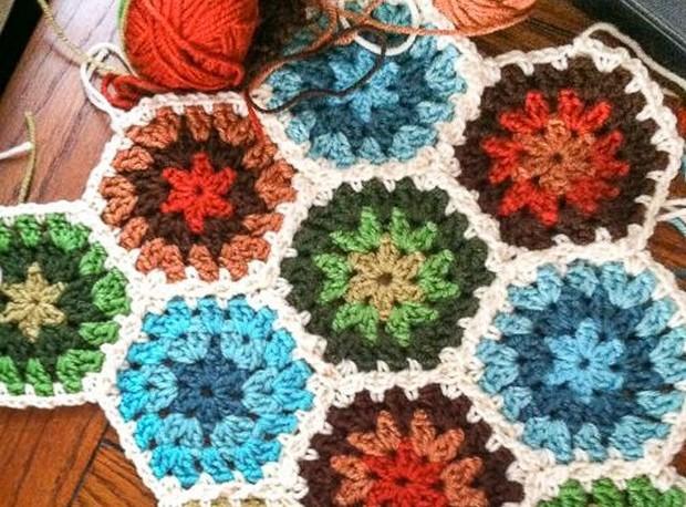 Beautiful Crochet Hexagon Free Pattern