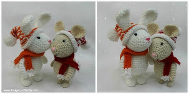 Crochet Winter Bunny