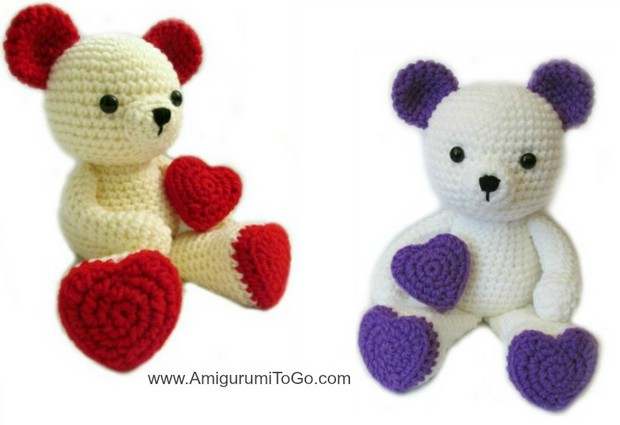 Crochet Valentine Day Teddy Bear