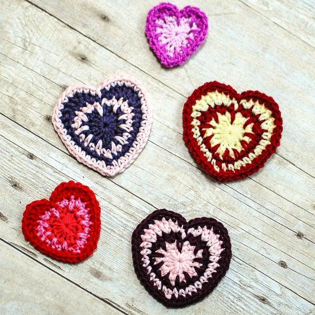 Crochet Valentine's Day Hearts