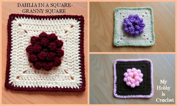 Beautiful Floral Granny Square – Free Pattern + Tutorial!