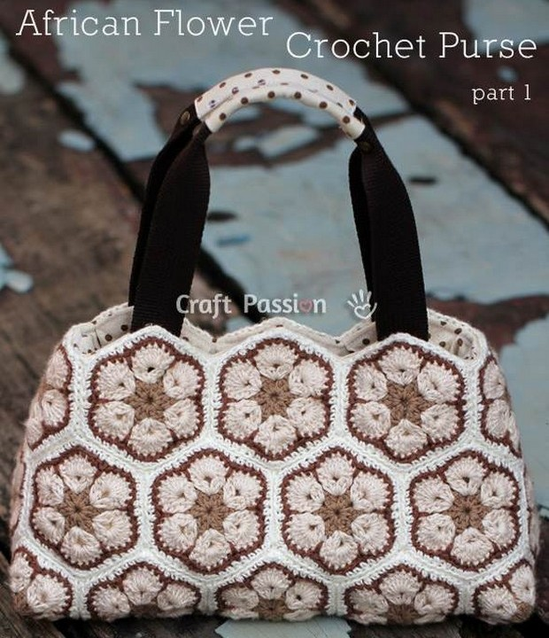 Home ? Patterns ? African Flower Crochet Purse - Free Pattern ...