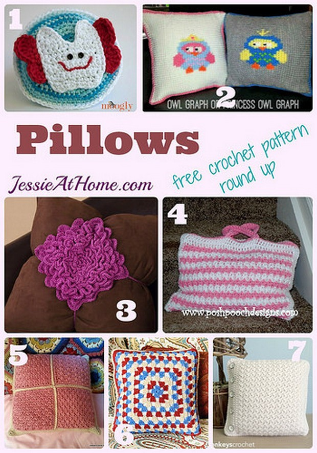 Crochet Pillows roundup