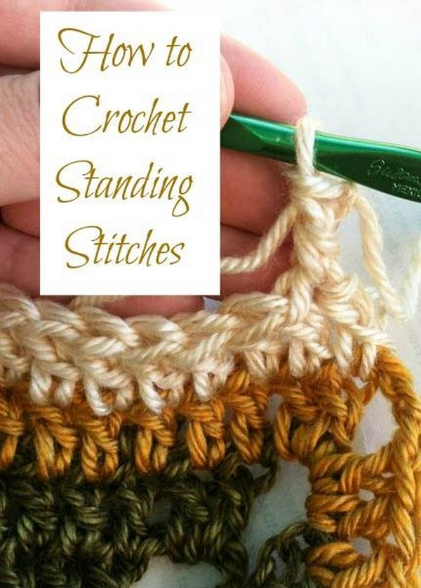 Crochet Standing Stitches Tutorial
