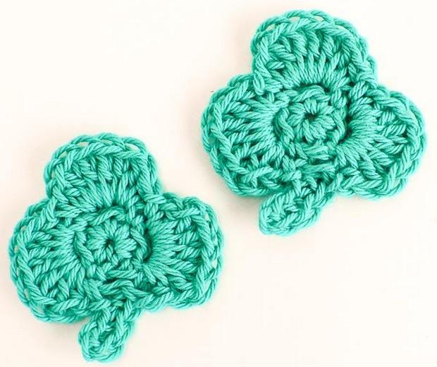 St Patrick's Day Crochet Clover