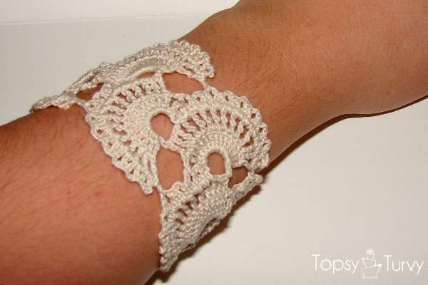 Diy Crochet Lace Bracelet Free Pattern Tutorial