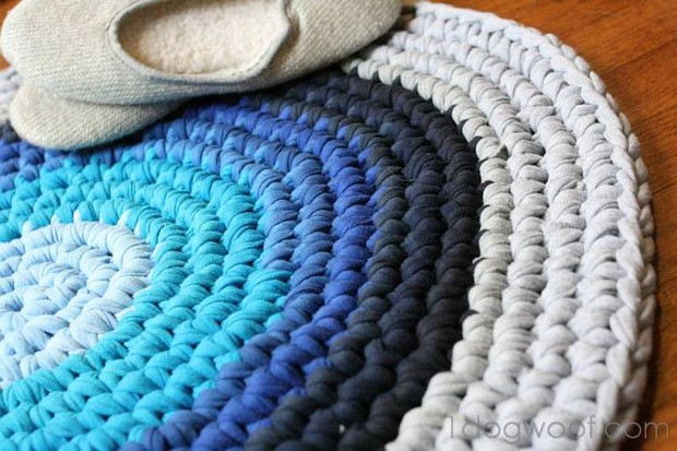 Old T Shirts Beautiful Crochet Rug Awesome Diy Photo Tutorial