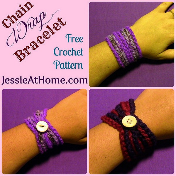 Crochet Patterns Video Tutorial : DIY Crochet Bracelet - Free Pattern + Video Tutorial!