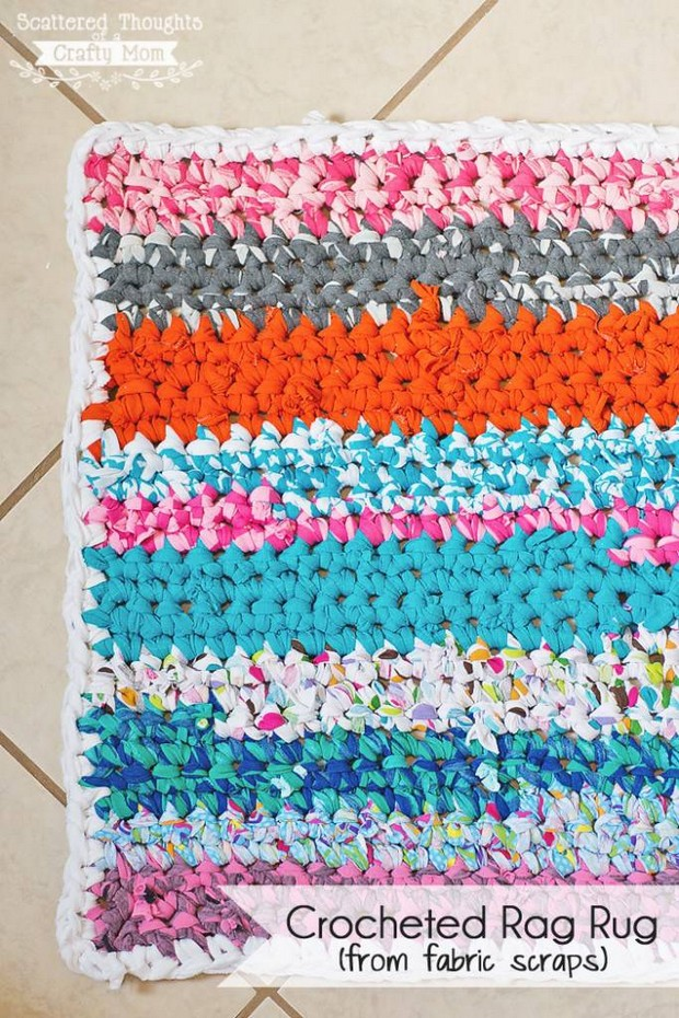 Free Crochet Pattern For Rag Rugs : Awesome DIY Crochet Rag Rug ? Free Pattern + Tutorial!